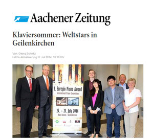 Press review Aachener Zeitung, 06th July 2014