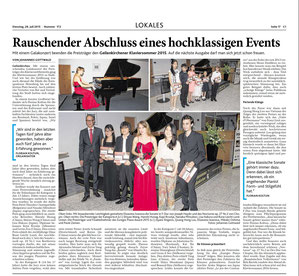 Press review Aachener Zeitung, 29th July 2015
