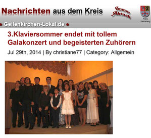 Press review Geilenkirchen-Lokal, 29th July 2014