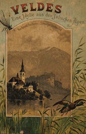 Gegenblick - Blick vom Veldeser (Bleder) See zum Hochstuhl im Jahr 1889