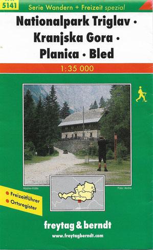 freytag & berndt Wander + Freizeitkarte Nationalpark Triglav - Kranjska Gora - Planica - Bled