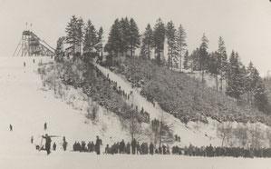 Bild: Wünschendorf Höllbergschanze 1956
