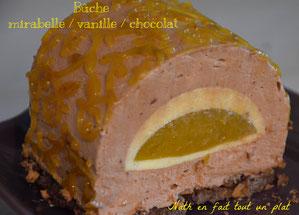 bavaroisechocolat vanille mirabelle bûche noël