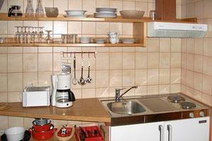 kleine Küche im Appartement 2
