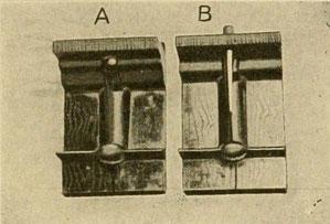 Modell für Gussform zum Thermitschweißen von Eisenbahnschienen