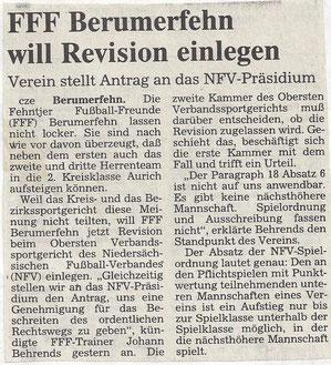 (Ostfriesen-Zeitung vom 26. Juli 1996)