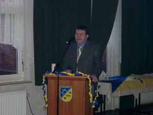 Der 1. Vorsitzende Wilfried Freese bei der Eröffnungsrede.