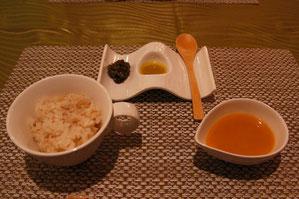 新生姜のご飯 スープ ド ポワソンとやたら
