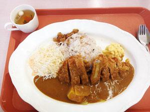 ヒレカツカレー ¥800 ご飯は古代米入り