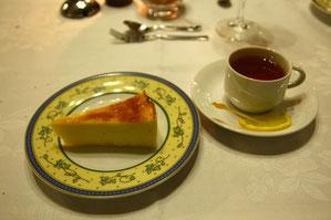 ガトーフロマージュと紅茶