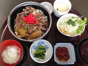 木曽牛の牛丼定食