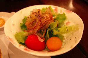 自家製野菜のサラダ  新鮮、パリパリ