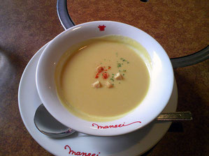 なぜか懐かしさを感じる美味しいコーンスープ
