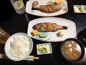 ノドグロ塩焼き定食