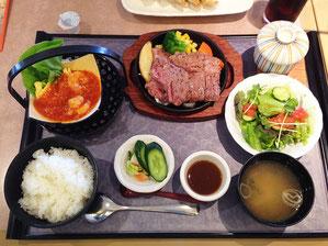 ステーキ御膳 1680円 柔らかいお肉でした