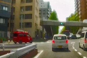 救急車と、軽トラの消防車両が何台も駆け抜ける