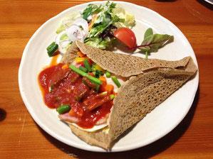 野菜たっぷり蕎麦のガレット