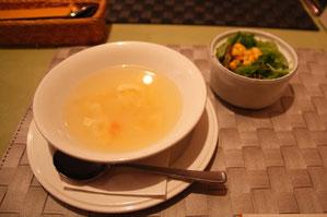 とてもやさしいお味のスープ ホッとします