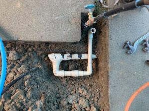 ガス管取替え
