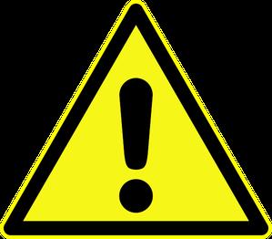 """Warnschild """"Warnung vor einer Gefahrenstelle"""" als Symbolbild für den Vortrag Informationsgewinnung bei Gefahrgutunfällen"""