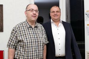 Thies Joachim Hoffmann mit Hans Walter Schäfer