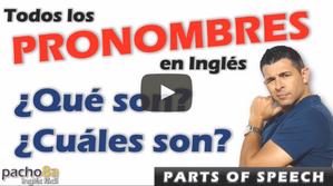 Estos son todos los PRONOMBRES en inglés – Explicación detallada – Parts of Speech