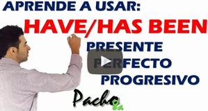 Estructura gramatical Presente Perfecto Progresivo - HAVE / HAS BEEN