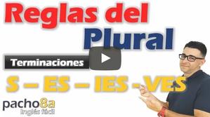 Reglas del plural en inglés - Cuando agregar S, ES, IES, VES a los sustantivos - Plural Nouns