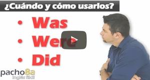 Cuándo usar y diferenciar WAS – WERE – DID – Pasado to be VS Pasado Simple – Explicación Detallada