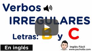 Aprende y practica los verbos irregulares más comunes en inglés - Letra B