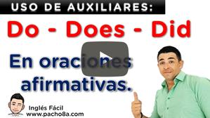 Así se usan los auxiliares DO, DOES y DID en oraciones afirmativas - Modo enfático