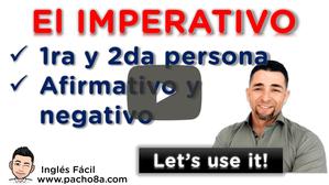 Aprende a usar correctamente el imperativo en sus diferentes formas