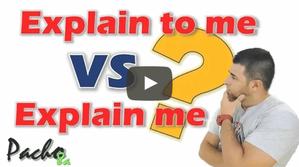 Explain me VS Explain to me - Aprende a usar correctamente el verbo EXPLAIN