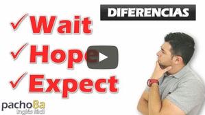 Diferencia entre WAIT, HOPE, EXPECT – 10 Ejemplos para saber cuándo usarlos