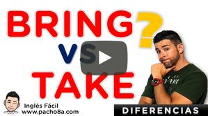 Aprende cómo usar y diferenciar correctamente los verbos Bring y Take en inglés