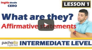 Lesson 1  Affirmative Statements with Professions / Comprehension.