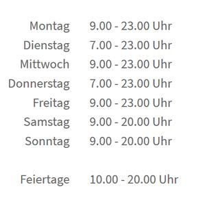 Öffnungszeiten Aera Fitness Heidelberg