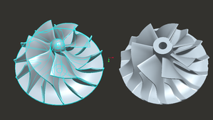 Billet Compressor Impeller Comparison to Cast Impeller