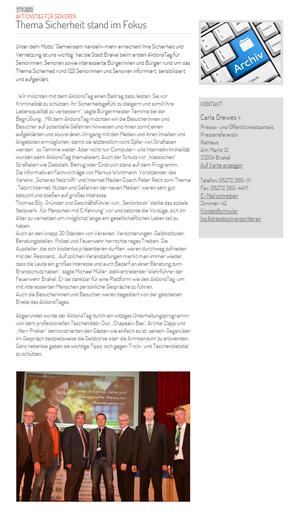 Artikel auf www.brakel.de