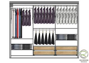 CAD-Planung Inneneinteilung Kleiderschrank nach Maß von Schreinerei Holzdesign Ralf Rapp Geisingen,