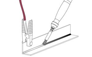 Decapaggio con pennello il fibra di carbonio elettrodecapaggio WE KEM
