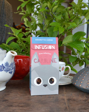 infusion tisane amaretto cerise - Les thés de caroline