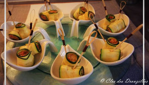 Lasagnes de courgettes version tapas