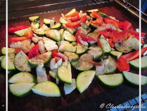 cuisson des légumes au four