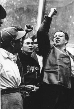 Frida Kahlo og maleren Diego Rivera
