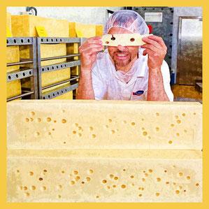 Emmi Raclette-Produktion in Landquart