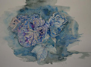 薔薇3 Roses (Watercolor painting)
