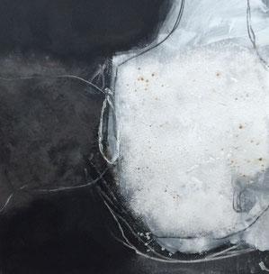 Bild: Lebensfülle: 100 x 100 cm, auf Leinwand, Acryl-Mischtechnik, mit Bitumen, in Privatbesitz