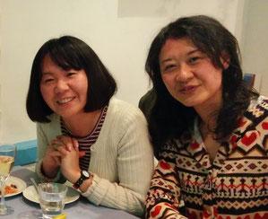 (左)蒲田乃セイウチさん(右)根本恵理子(少し若い)