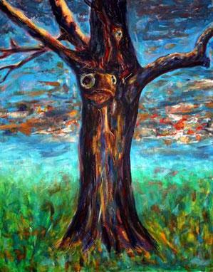 Baum (Buche) mit einem menschlichem Gesicht